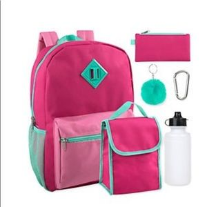 Other - 💗💚 NWT Electric Pink 6-in-1 backpack set